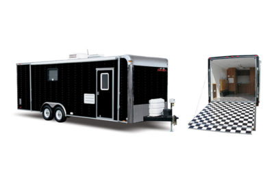Cargo Mate Motorcycle Trailer with Living Quarters