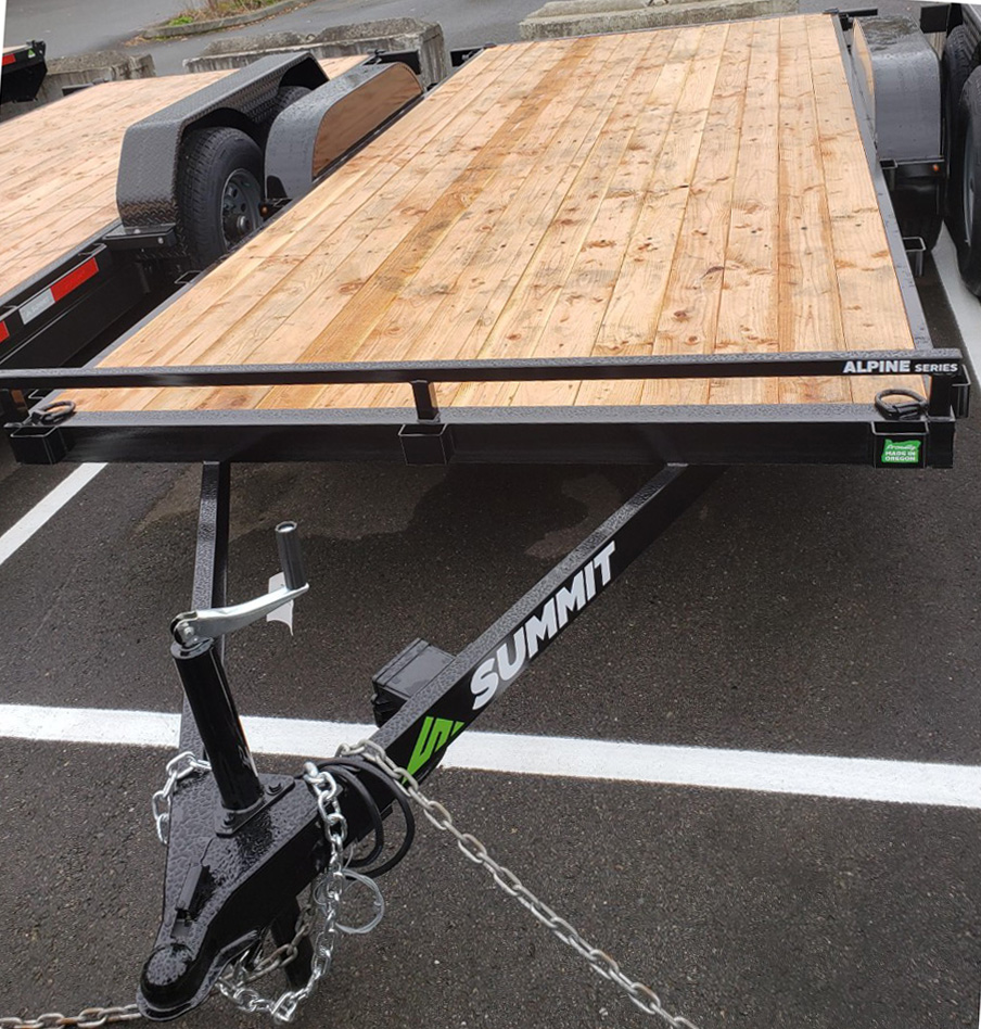 Summit Alpine 7x16 7K flatbed trailer for sale at Kirshner Trailer Sales